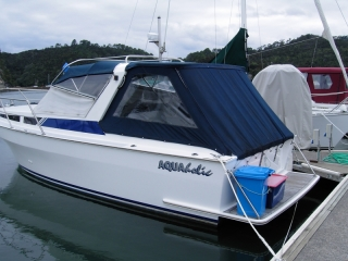 Aquaholic back in her berth
