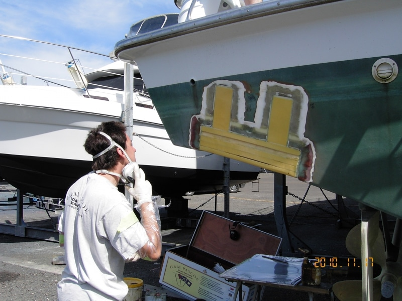 Karl filling in trim tab cavities