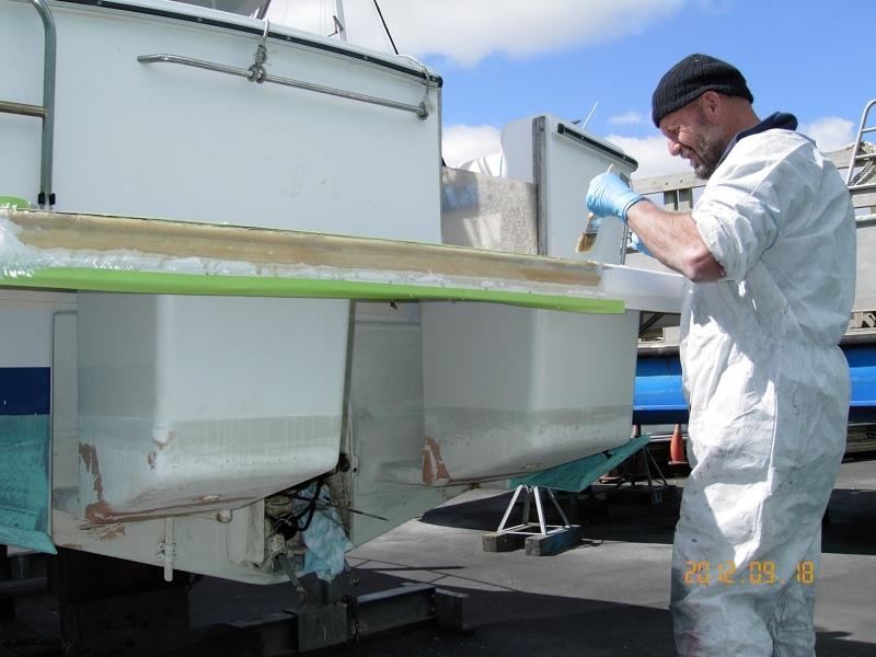 Mitch repairing boarding platform