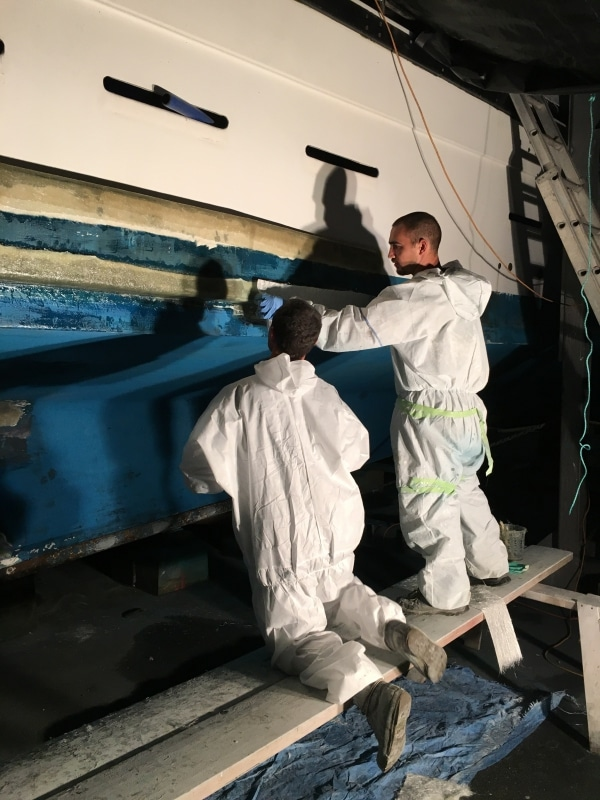 Pearler - Mattias & Beau fibreglass repairs