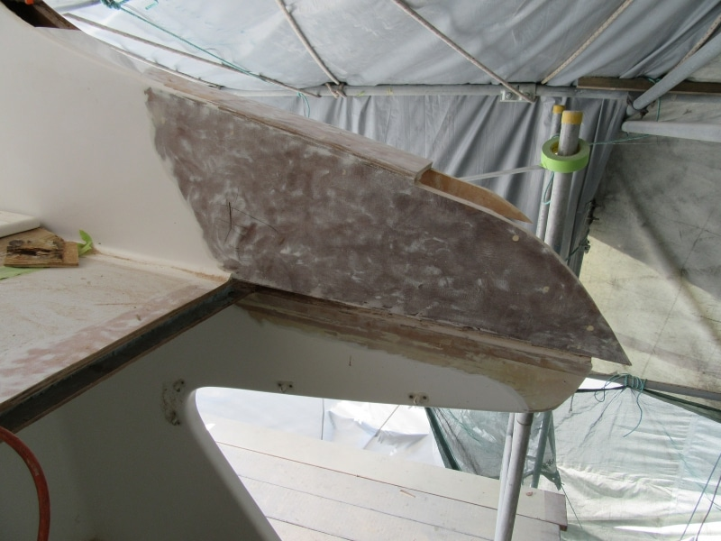 Rot repair flybridge corner