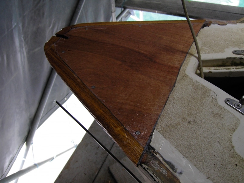 Rot repair to bow (2)