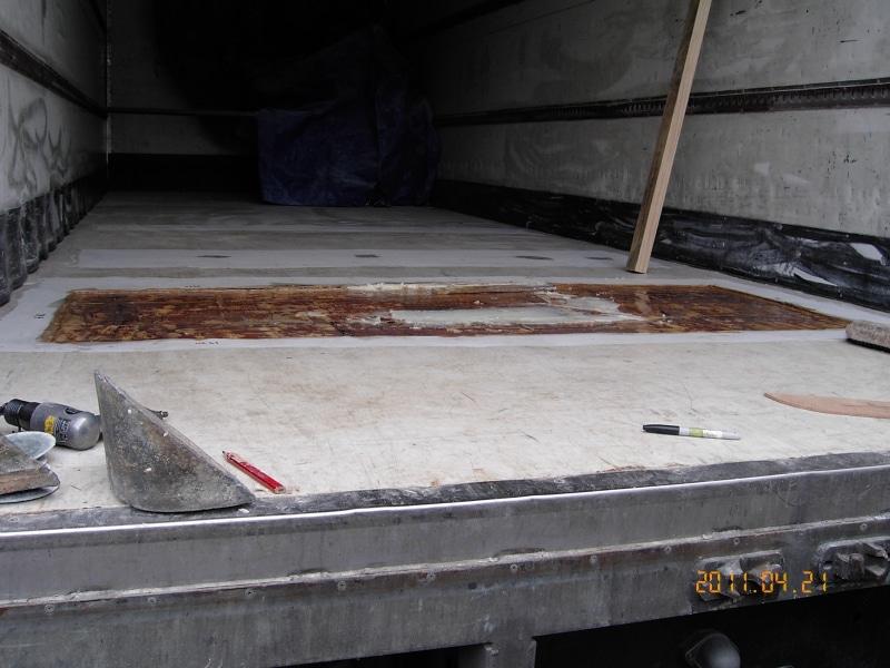 Truck - rebuild floor